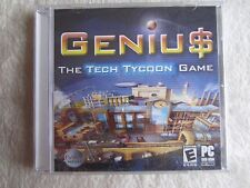 Geniu$: The Tech Tycoon Game (PC, Jewel Case, 2005) - FACTORY SEALED