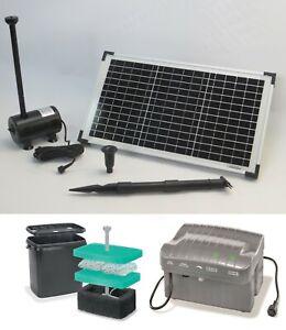 20 W Solar Springbrunnen Pumpe Solarpumpe Akku Teichpumpe Gartenteich Filter NEU