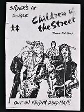 More details for spider british heavy metal band 1st single flyer ad 1980 vintage original nwobhm