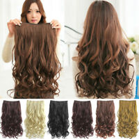 Nifty Ideal Full Head Clip Curly/ Wavy Women Synthetic Hair Extension Extensions
