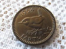 1954 GREAT BRITAIN FARTHING * BRITISH EARLY COIN *