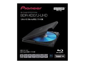 Pioneer BDR-XD07J-UHD Ultra HD 4K Blu-ray Portable USB3.0 Blu-ray Drive DHL Fast