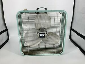 Vintage Country Aire by Lakewood Metal Box Fan 2 Speed Works Great