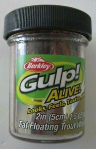 "Berkley Gulp! Alive!  Fat Floating Trout Worm - 2"" - 1.5 oz. Jar - Nightcrawler"