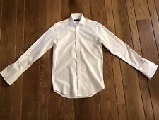 BLACK LABEL by RALPH LAUREN White Spread Collar Dress Shirt 15