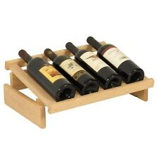 Wooden Mallet 32 Bottle Dakota Wine Rack with Display Top Unfinished NEW