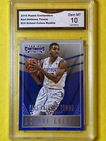 Karl-Anthony Towns 2015 Panini Contenders #24 School Colors Rookie - GMA 10 GEM