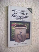 COLLECTOR'S GUIDE TO COUNTRY STONEWARE AND POTTERY  PRICE GUIDE BOOK