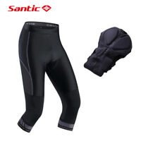 Santic Men's Cycling Shorts 4D Coolmax Padded Bicycle Bike 3/4 Pants M-3XL