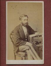 Cheltenham. G E Alder. Gentleman Stripe Trousers Victorian CDV Photograph ps.224