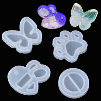 Epoxy Hanging Tags Shaker Resin Mold Key Chain Molds Quicksand Silicone Mould