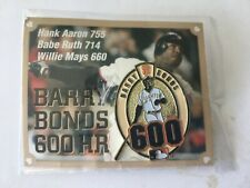 MIP SF Giants Barry Bonds 600 HR Pin 2002 SGA vs. Pirates