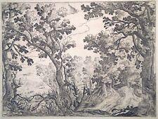 Radierung, Waldlandschaft, Manierist, um 1620, Prag (?)