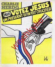 Charlie Hebdo n°544 du 15/04/1981 Votez Jésus Gébé Pâques Gébé