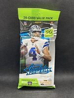 2020 Panini Absolute Football Value Fat Pack ~ Factory Sealed- 1 PACK - 20 CARDS