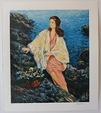 Igor Semeko Beauty by the Seaside Limited Edition Serigraph Art Hand Signed COA