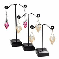 3Pc Acrylic Metal Tree Earring Necklace Jewelry Display Stand Hanger Holder Rack
