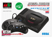 SEGA Mega Drive Mini Asia Edition Original 42 Game 6 Button 2 Controller Console