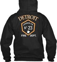 Detroit Fire Department L23 St. Pattys Gildan Hoodie Sweatshirt