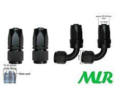 MLR AN -10 JIC STRAIGHT & 90° DEGREE BLACK OIL COOLER HOSE PIPE FITTINGS