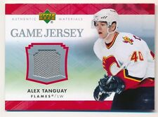 ALEX TANGUARY 2007/08 UD UPPER DECK FLAMES GAME USED JERSEY RELIC SP
