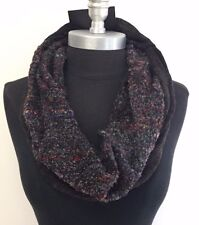 New 1-Circle Infinity Cable Knit Neck Loop Scarf Wrap Soft Charcoal/Multi Color