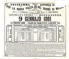 J353-MILANO-LOTTERIA 1861