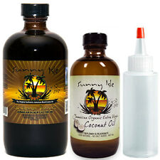 Jamaican Black Castor Oil Extra Dark 8oz/Organic Extra Virgin Coconut Oil 4oz