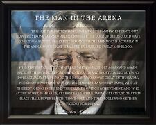 Theodore Teddy Roosevelt The Man In The Arena Quote Framed 8x10 Unique Picture