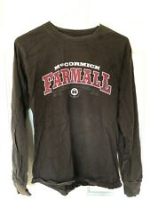 McCormick Farmall International Harvester Long Sleeve Brown T Shirt SMALL