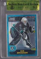 ILJA BRYZGALOV RC 2001-02 TOPPS CHROME ROOKIE #168 BECKETT RAW 9.5 BGS