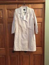 Eileen Fisher Coat Bone Doubleface Cotton Rainwear Snap Front Womans Size S New