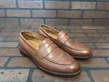 J. Crew Ludlow Penny Loafers Camel Brown Leather Size 9.5 A4362