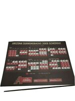 2008 Arizona DiamondBacks Baseball team Postcard Schedule 11 total