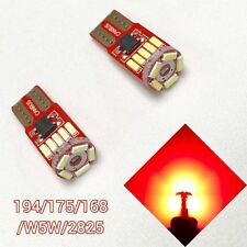 T10 W5W 168 194 175 2825 12961 Red LED Bulb Reverse Backup Canbus B1 #1