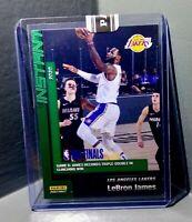LeBron James 2020 Panini LA Lakers NBA Champions #26 Green Parallel Card 10/10