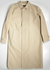 LORO PIANA NWOT MENS 56 46 XXL LUXURY TRENCH COAT BEIGE TAN COTTON MADE IN ITALY