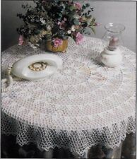 HEIRLOOM TABLECLOTH - FLOWER GIRL BASKET - PADDED HANGERS -  CROCHET PATTERNS
