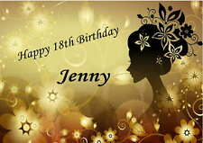Personalised  Female Any Age  18, 21, 30, 40,50  Birthday Card