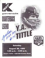 Y.A. Tittle Signed Auto Giants 8.5x11 Sheet W/ HOF 71 Photo