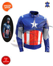 New Motorbike leather jacket Avengers style racing LEATHER JACKET any size
