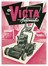 "Victa Automatic 18"" Lawn Mower Metal Reprod Sign 458"