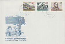 """Erstagsbrief der DDR """"1. Deutsche Ferneisenbahn 1839-1989 """" abgestempelt"""