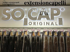 EXTENSION HAIR ORIGINAL SOCAP 75 CIOCCHE IN CHERATINA 60CM  100% NATURALI 90EURO