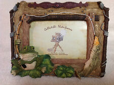 "Collectible ""Fisherman's Love"" Photo Frame Decorative Handpainted & Handcrafted"