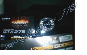 Gigabyte NVIDIA GeForce GTX 275 (GV-N275SO-18I) 1.75GB GDDR3 SUPER OVERCLOCK TOP