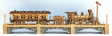 Wood plans for an Iron Horse three car train and trestle.  A best selling plan