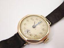 Hallmarked 1933 Edinburgh Gold 9ct Ladies Swiss Wrist Watch Needs Work LAYBY AVA