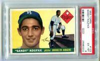1955 TOPPS #123 SANDY KOUFAX ROOKIE PSA 6 Dodgers HOF (BB202)