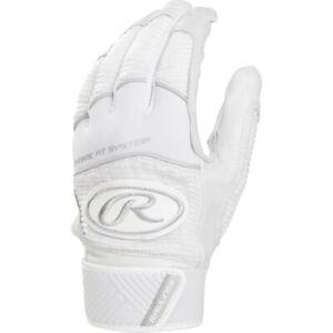 Rawlings Workhorse Batting Gloves Pair WH950BG - White - S